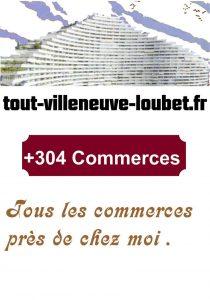 affiches commerces Villeneuve Loubet et pôle marina 7